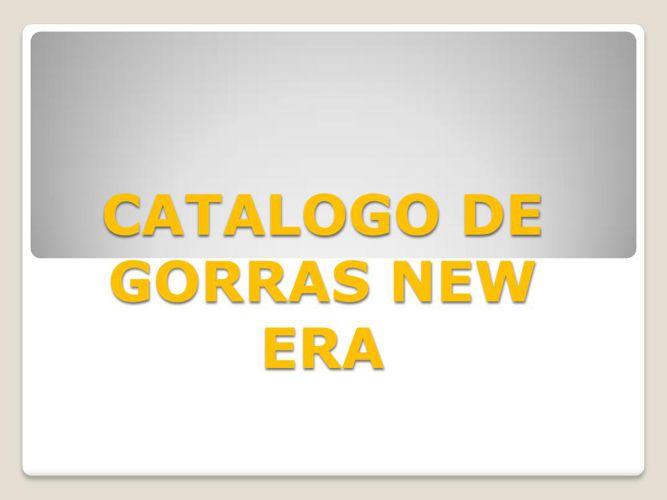 CATALOGO DE GORRAS NEW ERA - FLORES RIOS