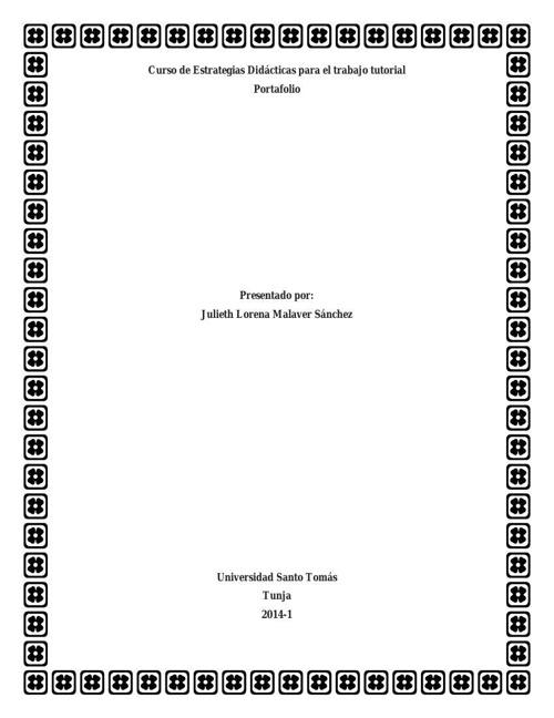 Diplomado - USTA - Julieth Lorena Malaver