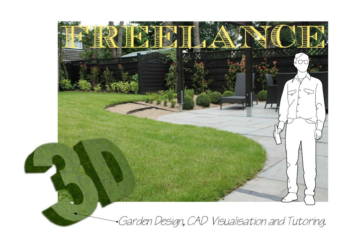 Freelance Garden Design 3D SketchUp CAD Visualisation & Tutoring