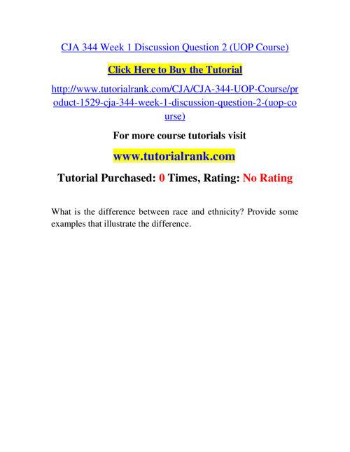 CJA 344 Course Success Begins / tutorialrank.com