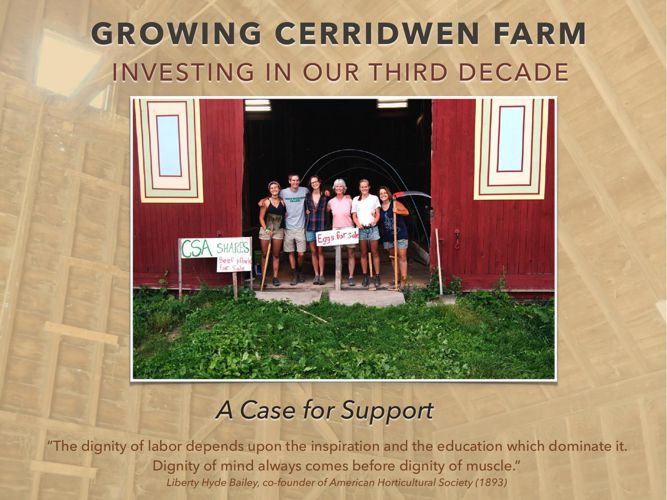 Growing Cerridwen Farm: Case of Support