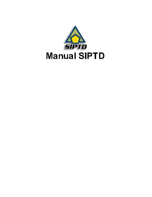 SIPTD Manual