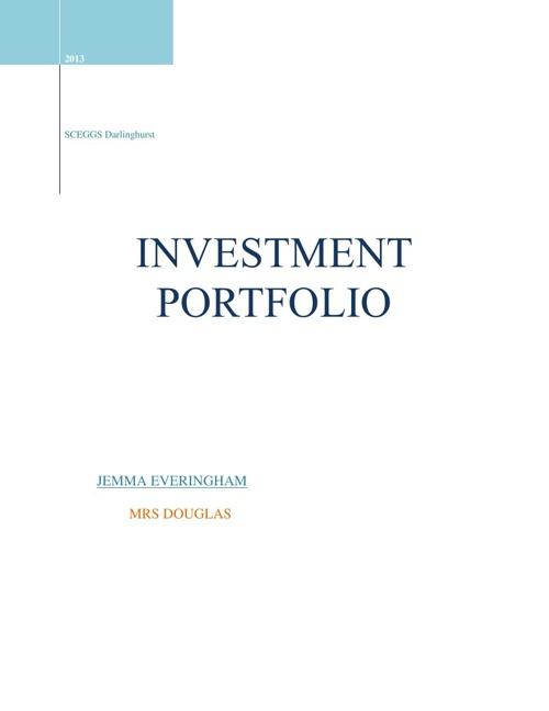 Commerce investing portfolio