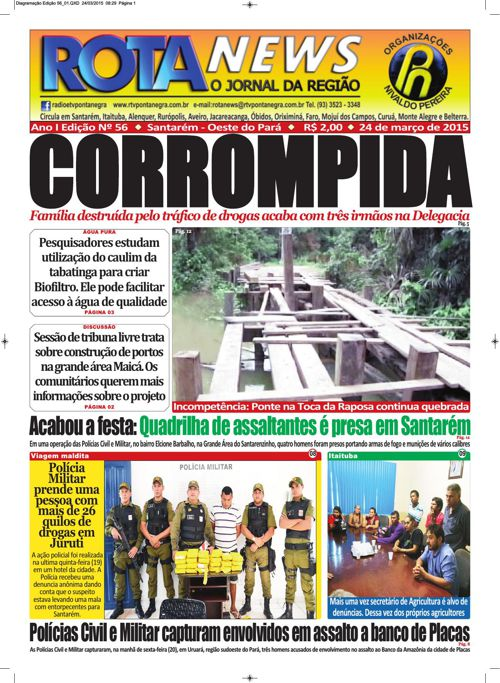 Jornal Rota News - Ano I Edição LVI - 24 de março de 2015