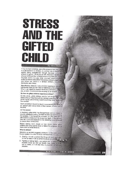 Üstünlerde Stres