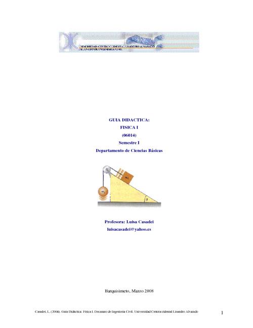 Guía Didáctica Física I