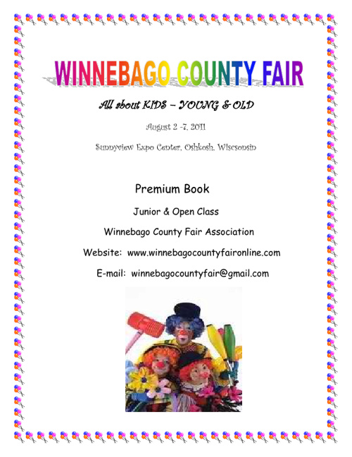 2011 Winnebago County Fair Premium Book