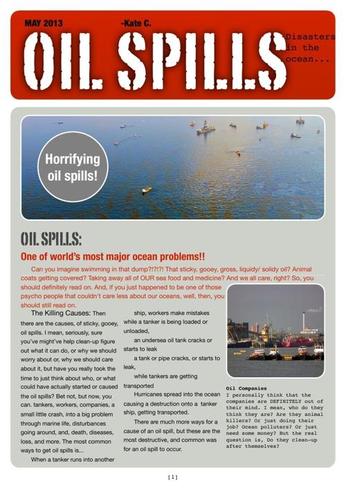 Oil Spills ~Kate