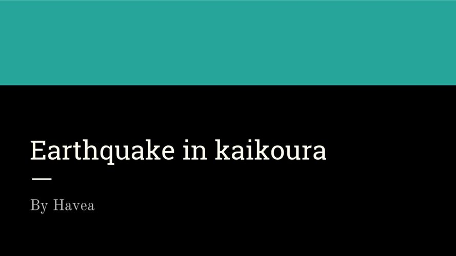 Earthquake in kaikoura (1)