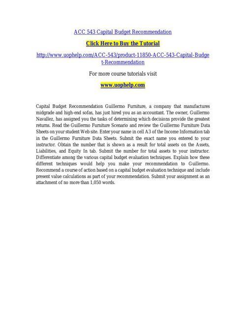 ACC 543 INSTANT EDUCATION / UOPHELP
