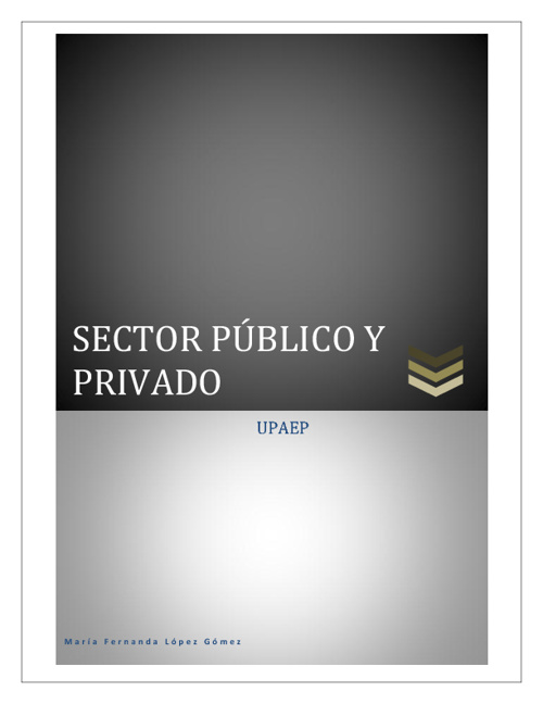 Sector publico y privado