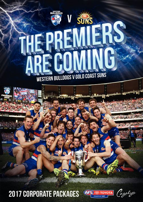 Bulldogs v Suns 22nd July 2017 Corporate Packages