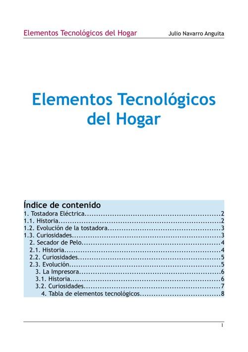 Elementos Tecnológicos del Hogar