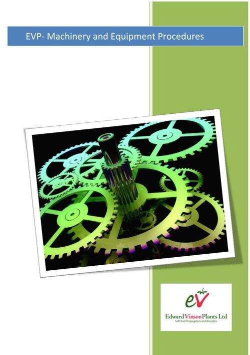 EVP Procedures - Machinery & Equipment