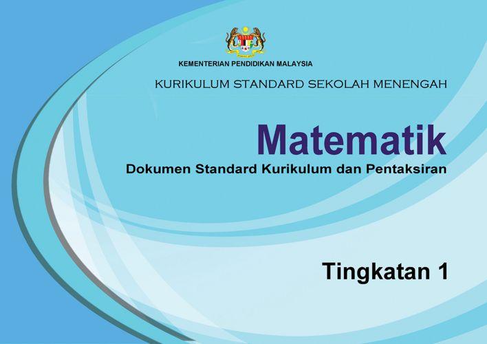DSKP KSSM MATEMATIK TINGKATAN 1
