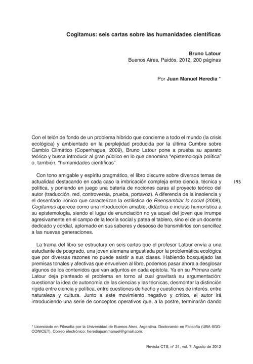 VOL07/N21 - Reseña