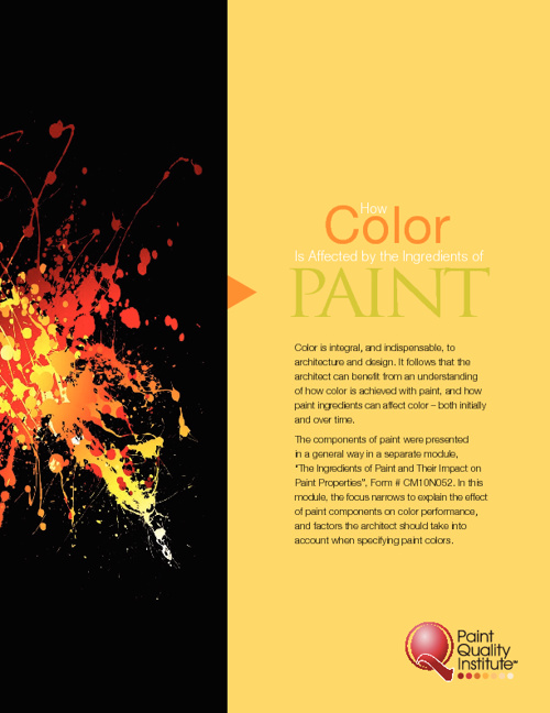 How Color is Affected by the ingredients of PAINT