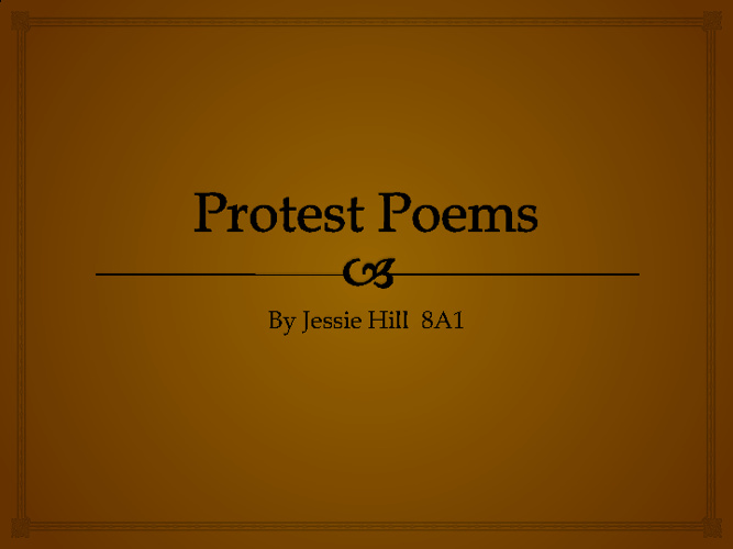 Protest Poems!