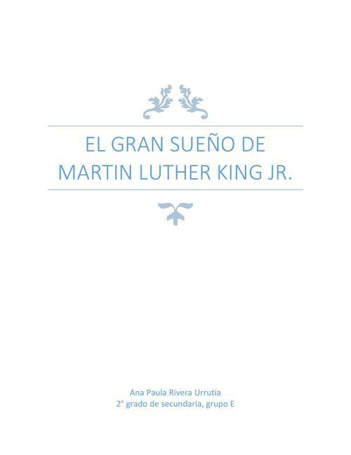 Ana Pau Riv Martin L King biografia