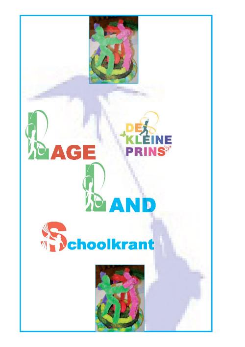 Schoolkrant winter 2012