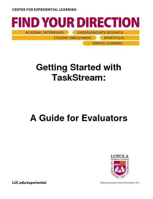 Evaluator Guide to ePortfolio