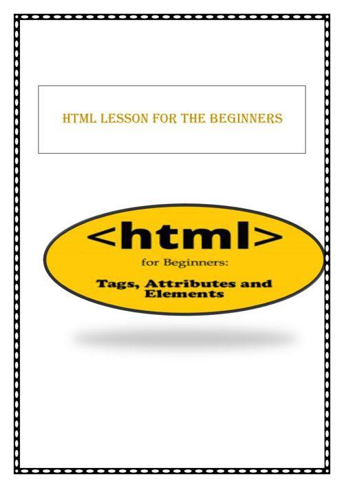 html lesson for beginners