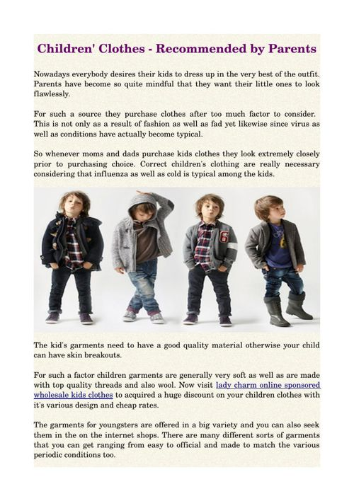 Children' Clothes - Recommended by Parents