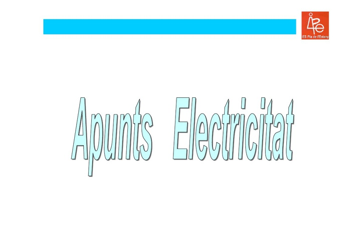 ELECTRICITAT tecno/informàtica