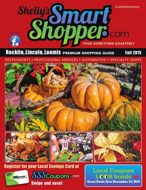 Shelly's Smart Shopper Rocklin Fall2015 Coupon Magazine