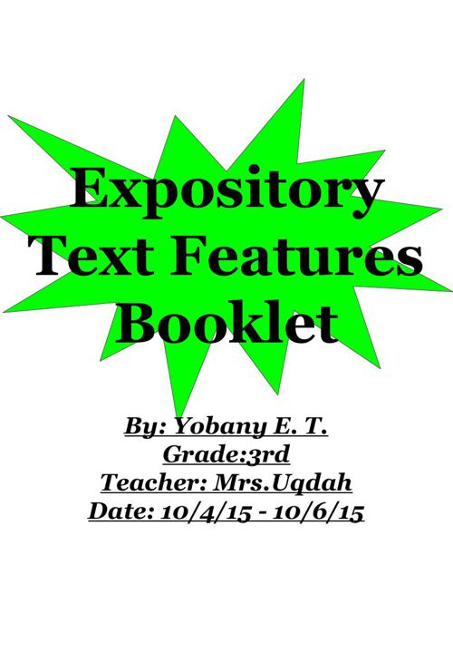 Expository Text Features Booklet