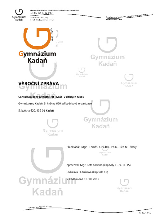 Výroční zpráva 2011/2012