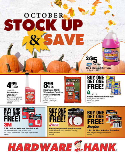Shelby Paint and Hardware - October Flyer