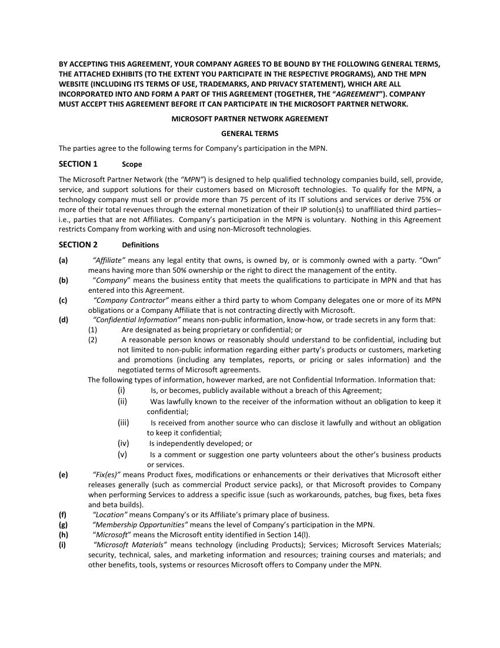Legal Agreement English