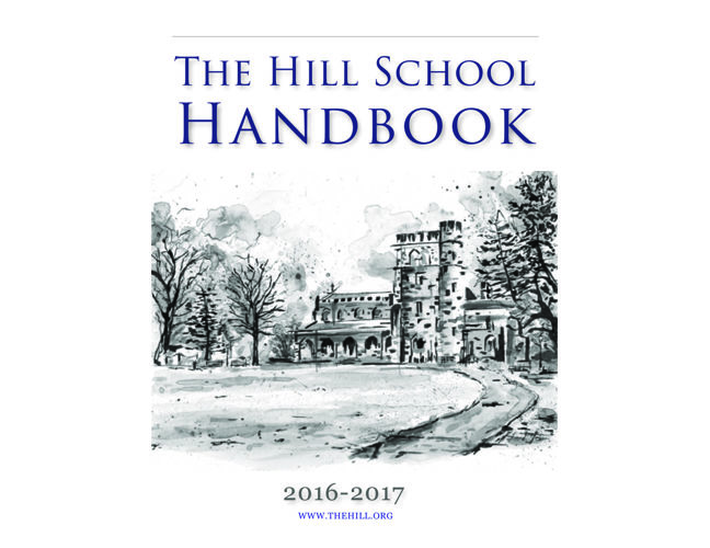 The Hill School Handbook 2016-17