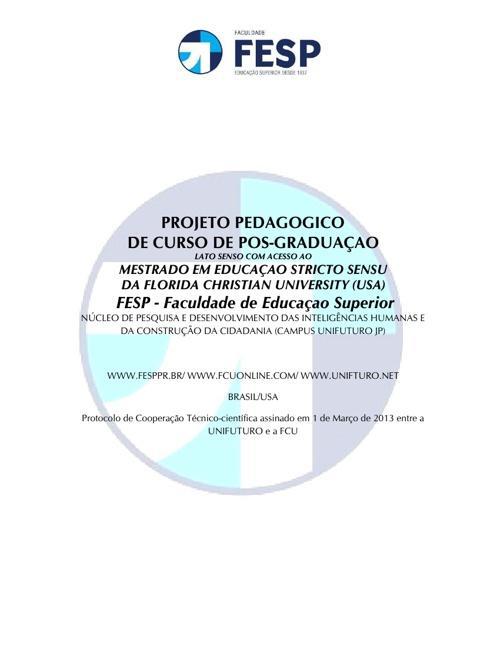 FACULDADE DE EDUCAÇÃO SUPERIOR DO PARANÁ