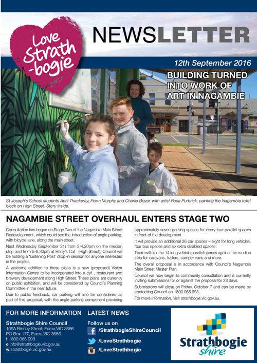 Love Strathbogie Newsletter - 12092016