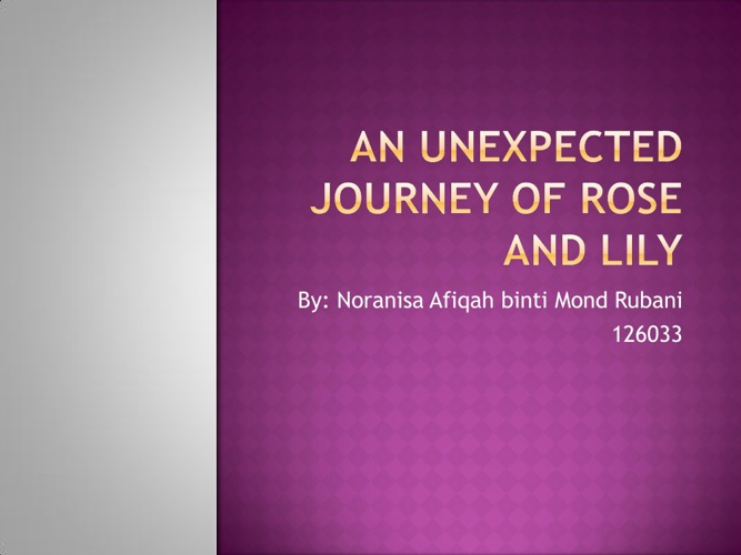 An Unexpected Journey of Rose and Lily