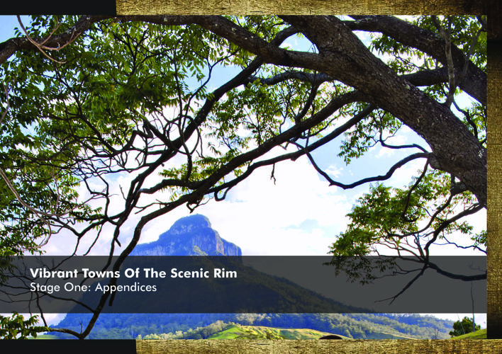 6 Appendices - Vibrant Towns of the Scenic Rim Stage One