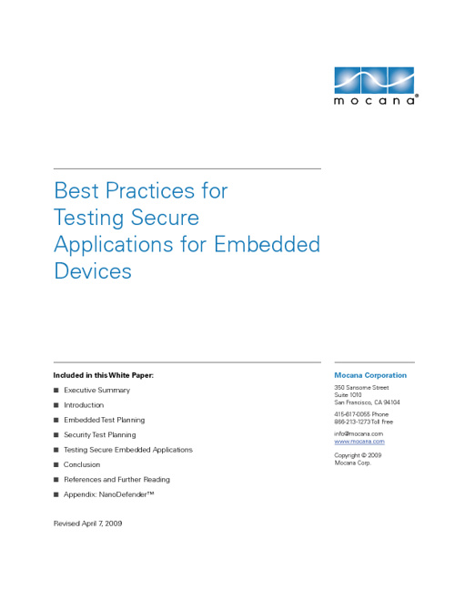 Best Practices: Testing Secure Applications for Embedded Devices