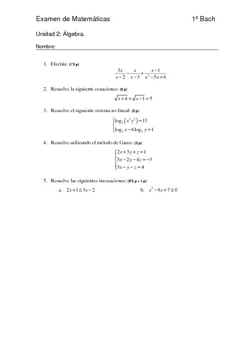Examen Resuelto Unidad 2