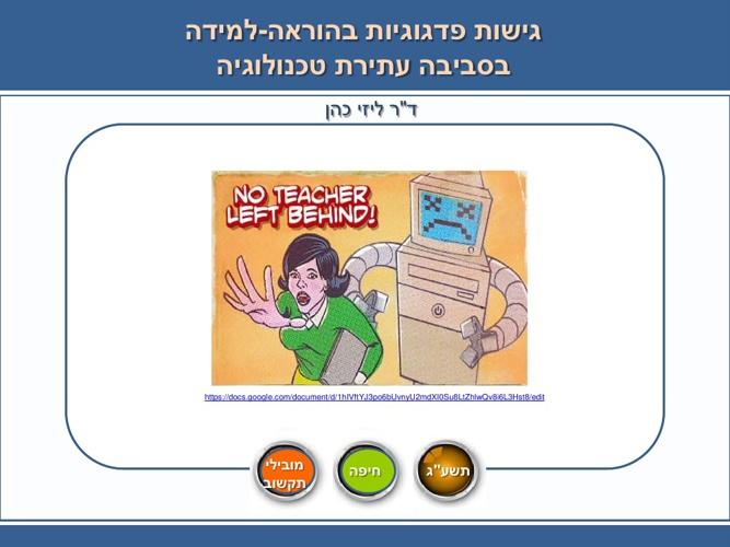 Copy of גישות פדגוגיות בלמידה מקוונת
