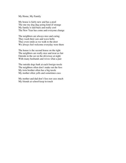 My Senior Poetry