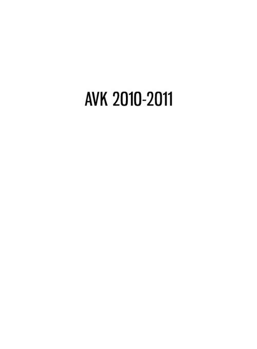 AVK boken 2010-2011