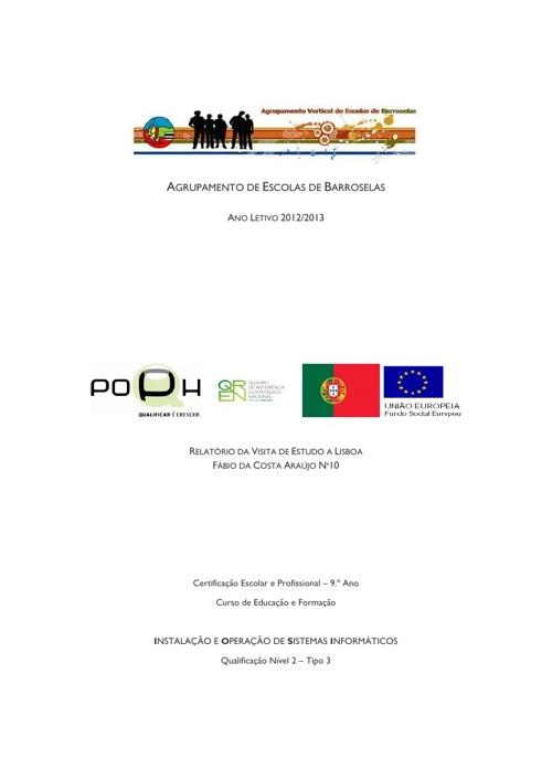 Relatório Visita de Estudo a Lisboa