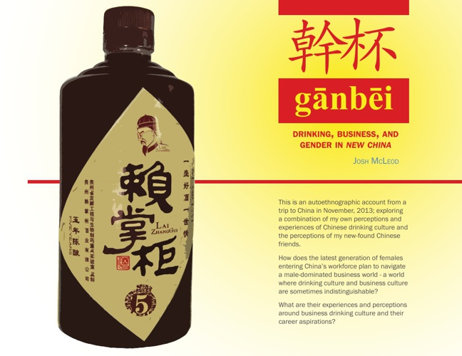 Ganbei: Drinking, business, and gender in New China