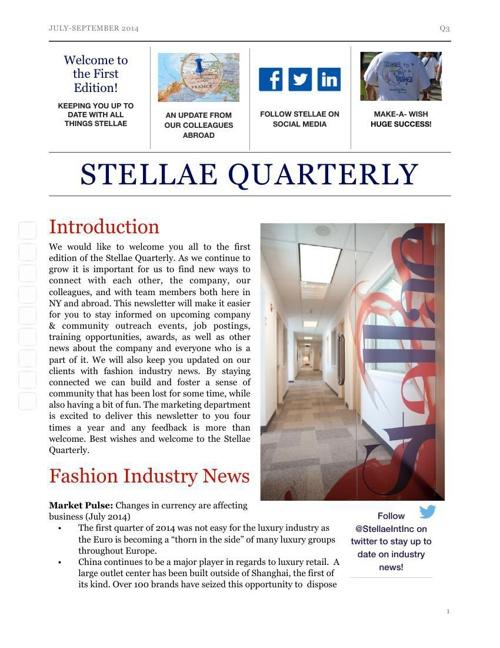 Stellae Quarterly Q3 2014
