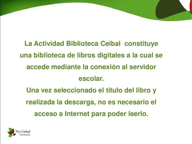 Trabajando con Biblioteca Ceibal