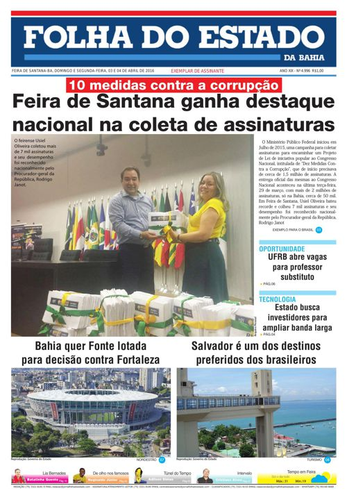 Jornal Folha do Estado da Bahia