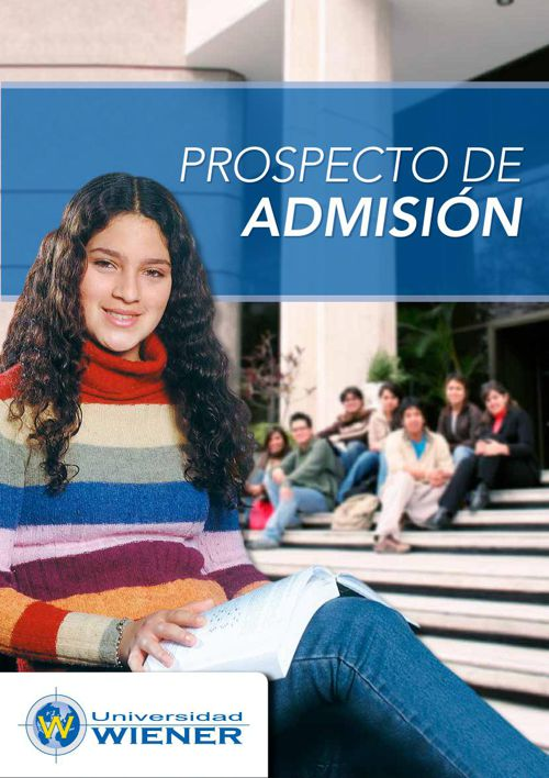 Prospecto de admisión 2015 Universidad Wiener