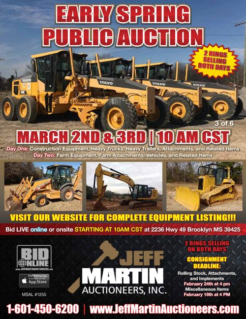 EARLY SPRING PUBLIC AUCTION